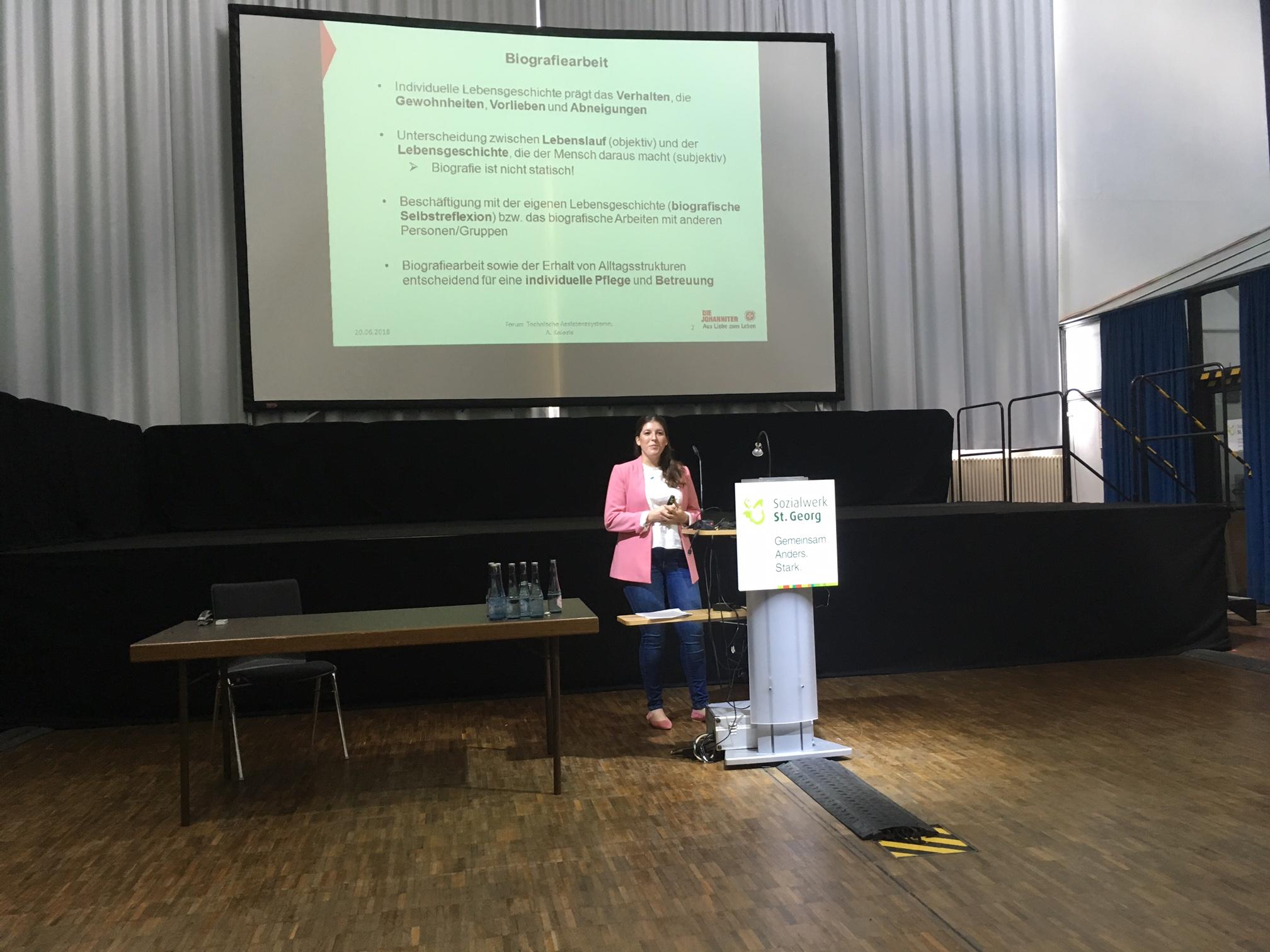"""PERLEN-Präsentation auf FINSOZ-Forum zum Thema """"Technische Assistenzsysteme"""" am 20.06.2018 in Gelsenkirchen"""